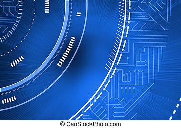 blu, interfaccia, futuristico