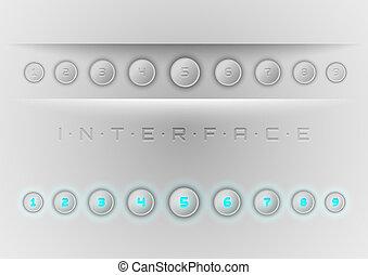 blu, interfaccia