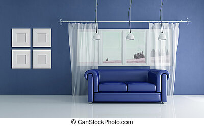 blu, interno