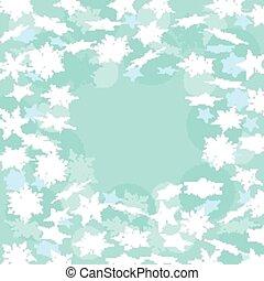 blu, inverno, fondo, con, snowflakes., vettore