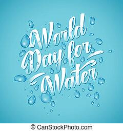 blu, iscrizione, acque, parola, giorno