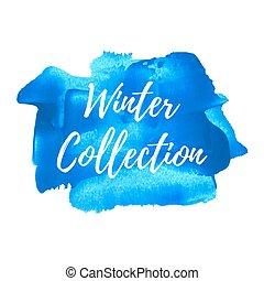 blu, iscrizione, carta da parati, inverno, manifesto, parola, decoration., testo, simbolo, vernice, vettore, disegno, collezione, fondo, logotipo, icona, disegnato, mano, illustration.