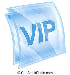 blu, isolato, fondo., vip, bianco, icona