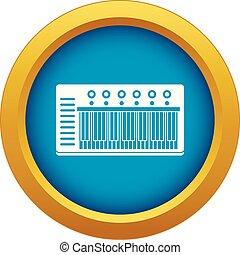 blu, isolato, vettore, synth, elettronico, icona