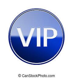 blu, isolato, vip, lucido, fondo, bianco, icona