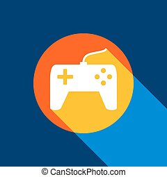 blu, joystick, infinito, tangelo, semplice, luce, segno., bianco, giallo, produced., fondo., luminoso, selettivo, nero, vector., marina, cerchio, ombra fresca, icona