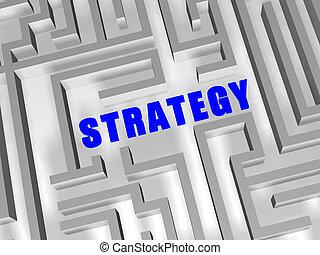 blu, labirinto, strategia