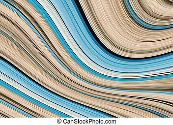 blu, largo, volumetrico, onda, banda, geometic, curva, base...