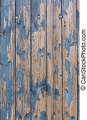 blu, legno, alterato, parete