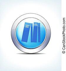 blu, letteratura, pharma, riferimento, &, libri, bottone, sanità, simbolo, informazioni, icona