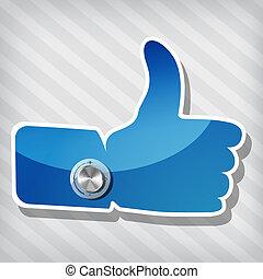 "blu, ""like"", simbolo"