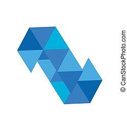 blu, logotipo, diamante, vettore, illustrazione