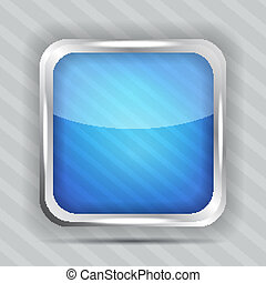 blu, lucido, icona