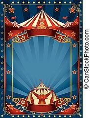 blu, magia, circo, manifesto
