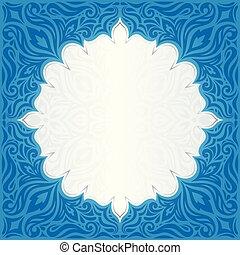 blu, mandala, spazio, carta da parati, scuro, disegno, fondo, floreale, copia