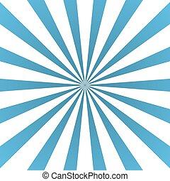 blu, manifesto, bianco, raggi, bagliore