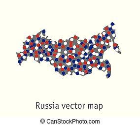blu, mappa, grigio, oggetto, isolare, bianco, russia, rosso