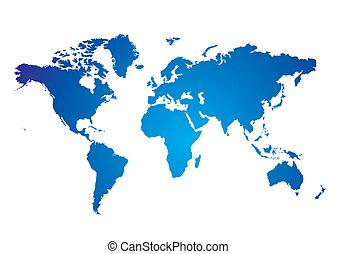 blu, mappa mondo