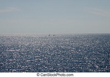 blu, mare, orizzonte