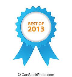 blu, meglio, di, 2013, distintivo, con, nastro