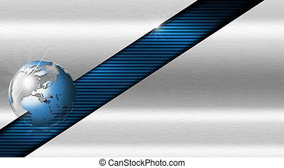 blu, metallo, scheda affari