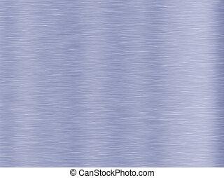 blu, metallo spazzolato, fondo, struttura