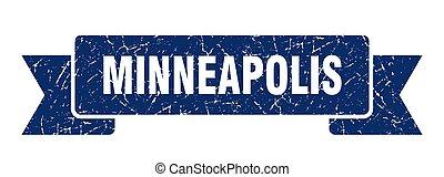 blu, minneapolis, ribbon., segno, grunge, banda