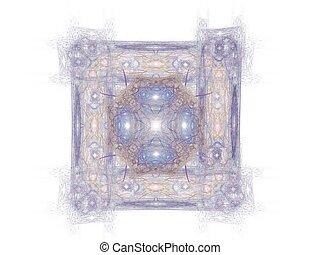 blu, modello, astratto, fondo, bianco, fractal