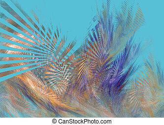 blu, modello, astratto, fractal, fondo