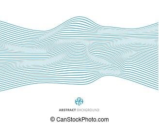 blu, modello, astratto, linee, onda, fondo., bianco