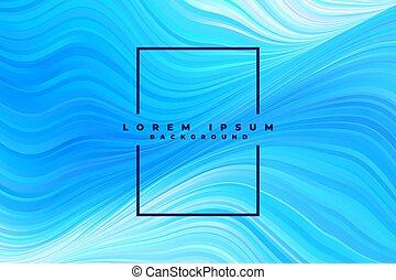blu, modello, astratto, linee, ondulato, fondo