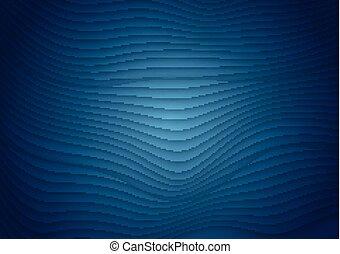 blu, modello, astratto, linee, scuro, ondulato