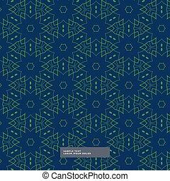 blu, modello, forma astratta, sfondo verde