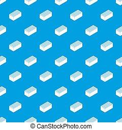 blu, modello, mattone, seamless
