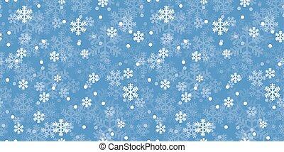 blu, modello, ripetere, natale, fiocchi neve
