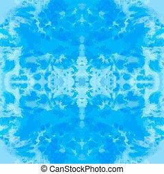blu, modello, seamless, acquarello, hand-drawn, vettore, piastrella