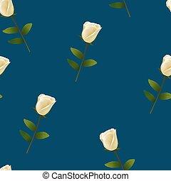 blu, modello, seamless, fondo, rosa, bianco