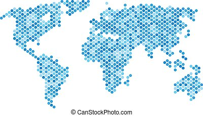 blu, mondo, puntino, mappa