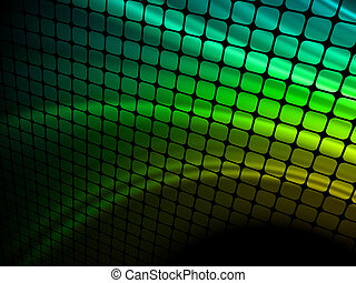 blu, mosaic., raggi, luce, eps, 8, 3d