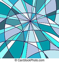 blu, mosaico, fondo