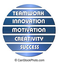 blu, motivazione, slogan, affari