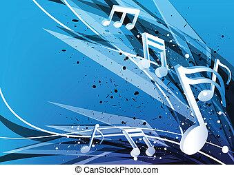 blu, musica, disegno, fondo