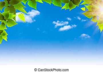 blu, naturale, astratto, sfondi, disegno, skies., tuo
