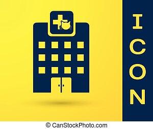 blu, negozio, veterinario, ospedale, animali, coccolare, veterinario, isolato, illustrazione, fondo., clinica, vettore, veterinario, giallo, medicina, icona, o, clinic.