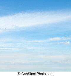 blu, nubi, cielo, luce