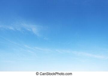 blu, nubi, spazio, lanuginoso, cielo, fuoco, fondo, bianco, copia, morbido