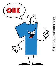 blu, numero, bolla discorso