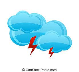 blu, nuvola, simbolo, bianco, pioggia