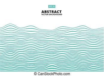 blu, ondulato, onda, astratto, linee, zebrato, modello,...
