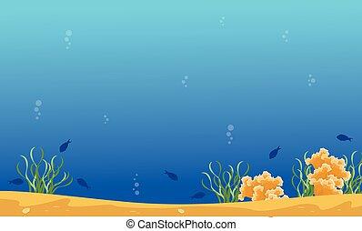 blu, paesaggio, scogliera, mare